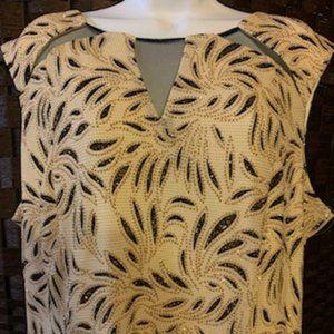 Midnight Velvet Size 18W Gold/Black Shimmer Dress